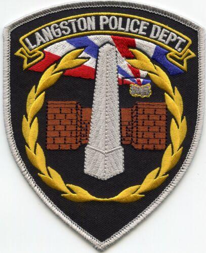 LANGSTON OKLAHOMA OK POLICE PATCH