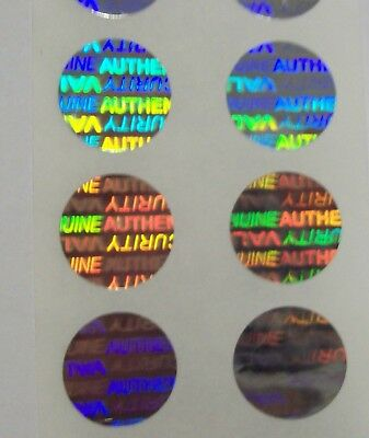 5000 Svag Custom Print Security Hologram Label Tamper Evident .5 Sticker Seals
