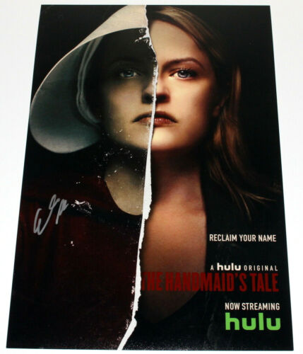 ELISABETH MOSS SIGNED 'THE HANDMAID'S TALE' 12x18 SHOW POSTER 1 w/COA ACTRESS