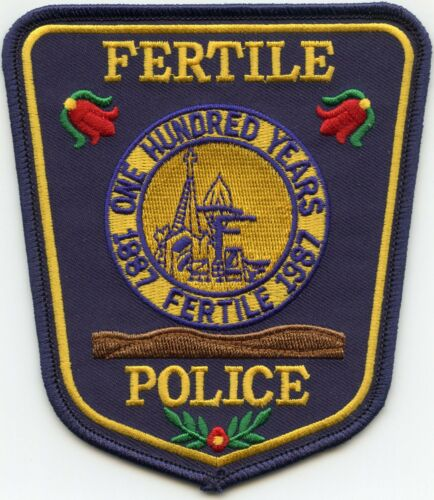 FERTILE MINNESOTA MN One Hundred Years POLICE PATCH