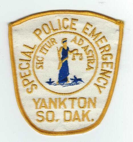 VINTAGE YANKTON, SOUTH DAKOTA SPECIAL POLICE EMERGENCY (CHEESE CLOTH BACK) patch