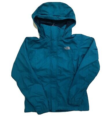 The North Face HyVent Resolve Blue Rain Jacket Hooded Waterproof Womens Sz Small