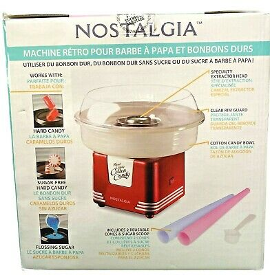 Nostalgia Retro Hard Candy Cotton Candy Maker