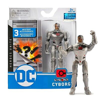 """DC Heroes Unite Cyborg 4"""" Action Figure with 3 Mystery Acces"""