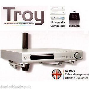 Floating AV Shelf Wall Bracket for Sky Box Virgin Freeview DVD DVR Xbox PS3 PS4