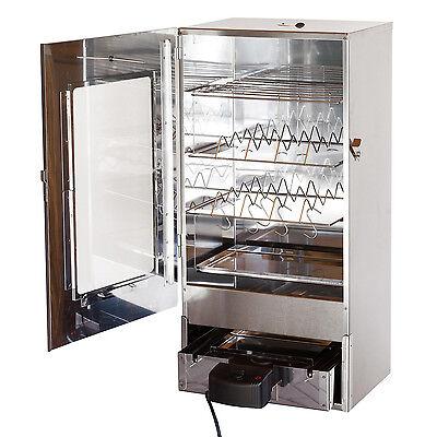 XXL 80 cm elektrischer Räucherofen Räucherschrank Räuchertonne Smoker + Scheibe