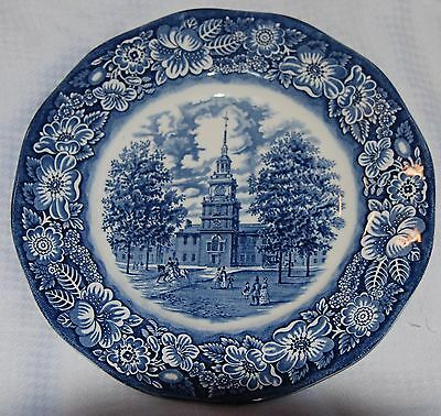 Liberty Blue Dinnerware - Liberty Blue Dinnerware Independence Hall Dinner Plate - Staffordshire - England