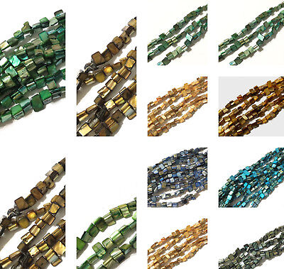 Natural Sea Shell Nugget Mother Of Pearl Beads- CHOOSE COLOR!!