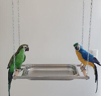 Papageien BADEWANNE XXL Edelstahl für alle PAPAGEIEN Badewanne f. Vögel SITTICHE