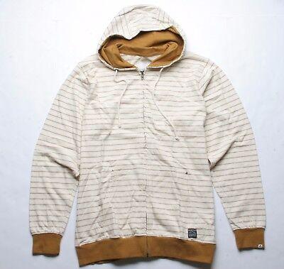 Matix Checker Stripe Hood Fleece (L) Golden (Brown Striped Fleece)