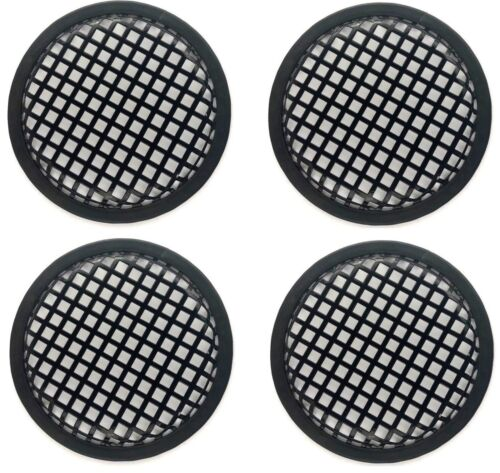 """4 PCS. 6 - 6 1/2"""" INCH SUBWOOFER SPEAKER COVERS MESH GRILL GRILLE GUARD CLIP US"""
