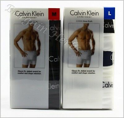 3Pack Calvin Klein Mens Boxer Briefs Classic Fit New in Box Free Shipping