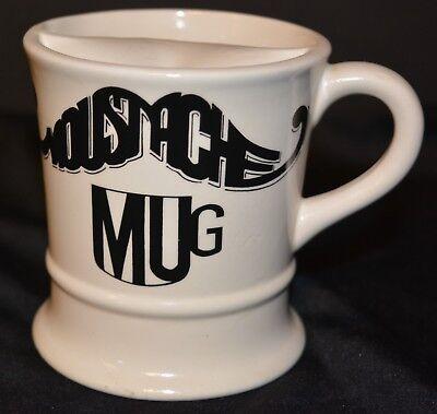 """VTG Ceramic """"Moustache"""" Mustache Mug EUC  Shaving Mug"""