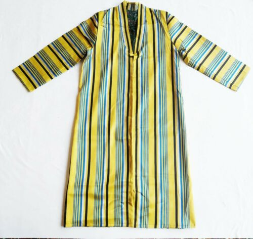 National Vintage Antique Uzbek Bekasam Silk Robe Chapan Jacket SALE WAS $190.00