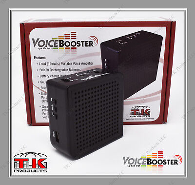 VoiceBooster Loud Portable Voice Amplifier 16 watt (Aker) MR2200 Black With MP3