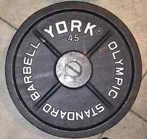 Metal Olympic Weight Plates - 45s, 35s, 25s,10s, 5s, 2.5s