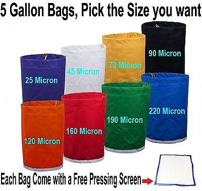 Pro Essense Extractor Kit Herbal Ice Bubble Hash 5-Gallon Bag W/ Pressing (Bag Kit Screen)