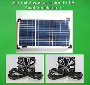 20W Solarlüfter Gewächshaus Lüfter Solar Ventilatoren Solarventilator Gartenhaus