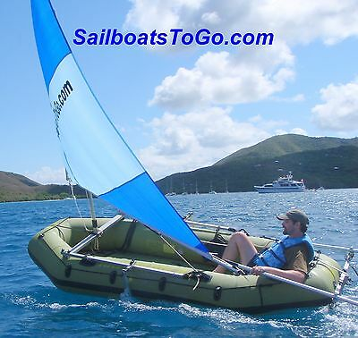 SailboatsToGo sail kit on better inflatable dinghy