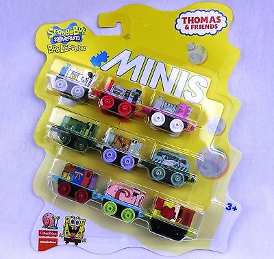 THOMAS & FRIENDS Minis Train Engine 2016 SPONGEBOB Sealed 9 Pack ~ Weighted
