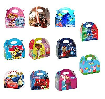 BIRTHDAY PARTY GIFT LOOT BOXES DISNEY AVENGERS PEPPA PIG PAW PATROL PJ MASK etc (Avengers Party Boxes)