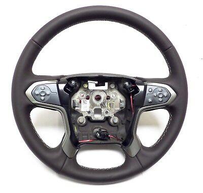 2015-2019 Silverado Suburban Steering Wheel Lather, Gray Stitches 23278610