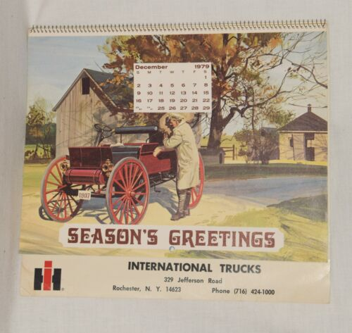 Vintage 1980 International Trucks Calendar Rochester NY