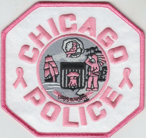 Chicago IL Illinois Police PINK Ribbon patch Breast Cancer