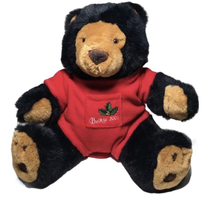 Teddy Bear Belkie 2001 Collector Teddy Bear Black Plush VINTAGE