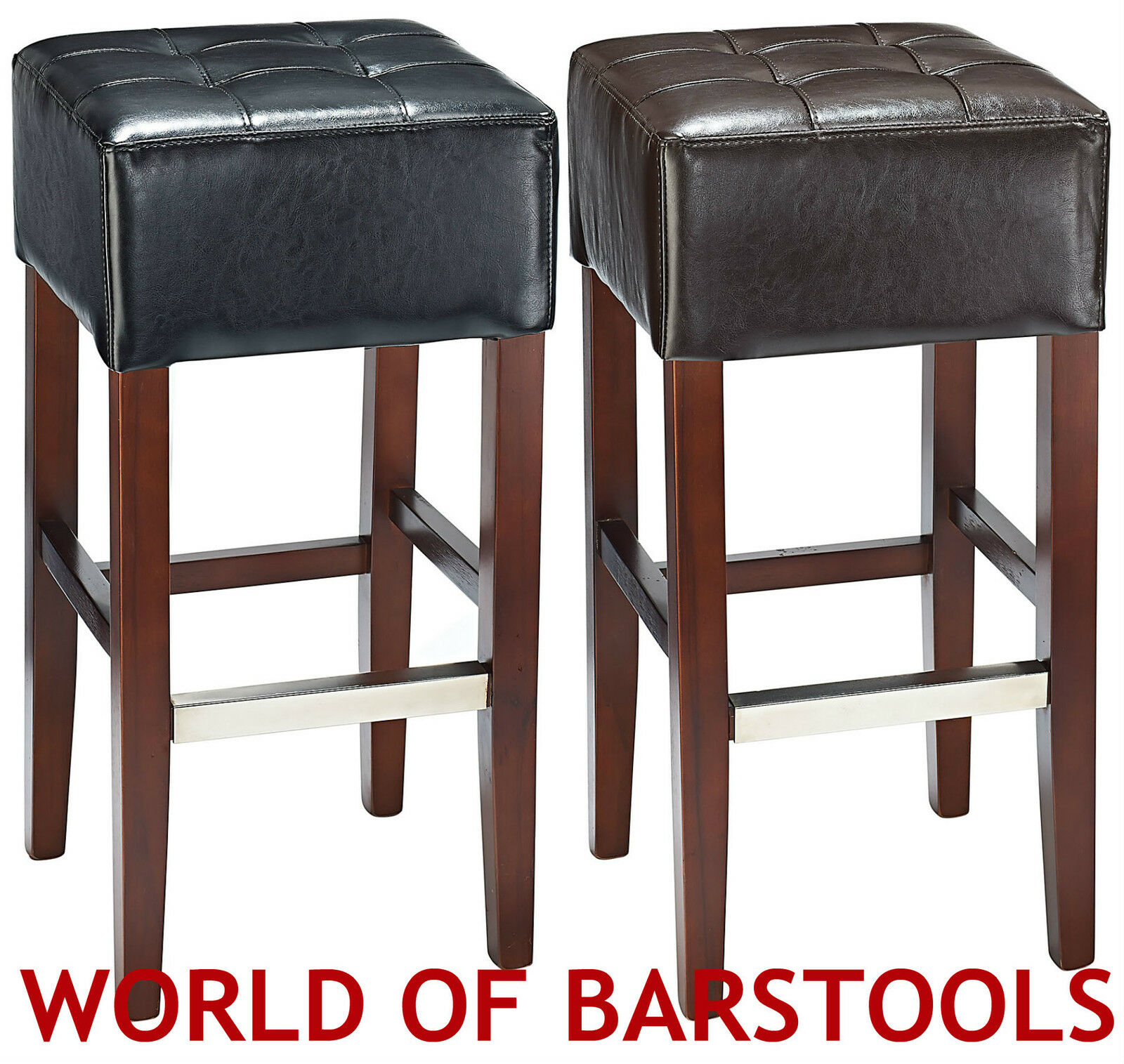 Details About Cirocco Real Bonded Leather Bar Stool