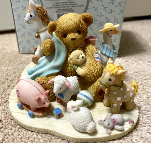 Cherished Teddies 2001 Brenna Boy & Toys Surrounded By Friends Special Ed 864315