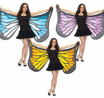 Fly Costume Wings (Butterfly Wings Adult Butter Fly Costume Orange Monarch Purple Blue)
