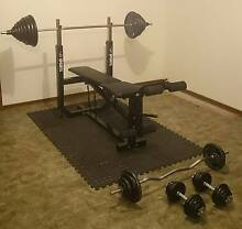 Bench press plus 140kgs of weights + Extras Marion Marion Area Preview