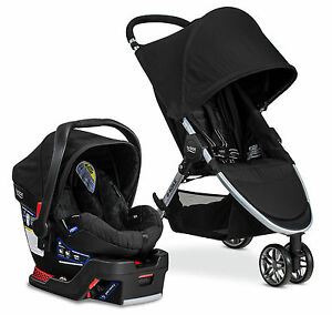 Britax 2017 B-Agile 3 Stroller & B-Safe 35 Car Seat Travel System Black NEW!