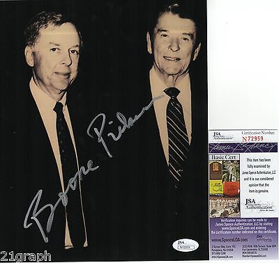 T  Boone Pickens Signed 8X10 Photo W  Jsa Coa  N72959 Ronald Reagan