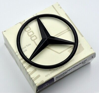 Trunk Star Emblem Glossy Black Rear Lid Logo Badge Mercedes GLE 43/63/450 AMG