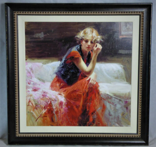 """Giuseppe Pino Daeni """"silent Contemplation"""" Hand Embellished Giclee On Canvas"""