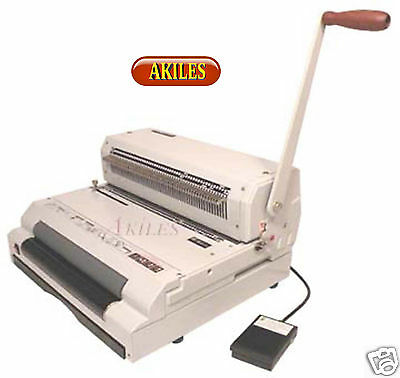 Akiles Coilmac-eci Coil Binding Machine Punch Inserter Has Oval Holes New
