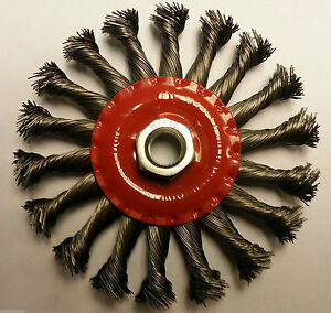 115mm-Carbon-Steel-Twisted-Knot-Wire-Brush-Wheel-Angle-Grinder-Brush-M14