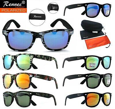 Rennec Angelbrille Polarisiert Sonnenbrille Polbrille Tarnfarben Angler Brille