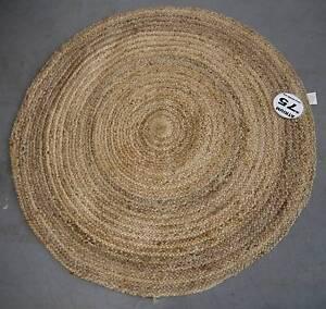 New Round Natural 120cm Jute Atrium Floor Rugs Woven Mats Melbourne CBD Melbourne City Preview