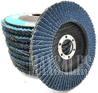 10 4-12 X 78 Arbor Flap Disc Premium Zirconia Sand Paper 120 Grit