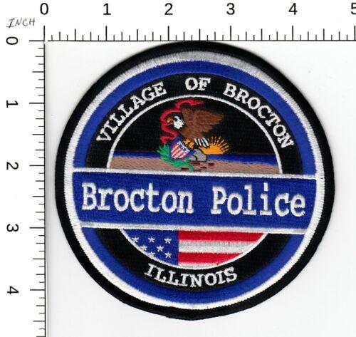 BROCTON ILLINOIS IL POLICE SHOULDER PATCH