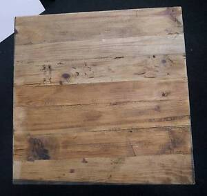 New Rustic Recycled Timber 700mm Square Cafe Table Tops Melbourne CBD Melbourne City Preview