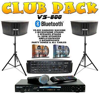 "Vocal-Star Karaoke Machine Speaker & Amplifier Set CDG DVD Bluetooth ""Club Pack"""