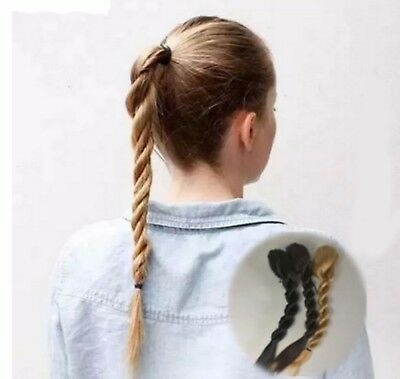 (thin Hair Extension Piece Twist Braided Ponytail Pigtail)