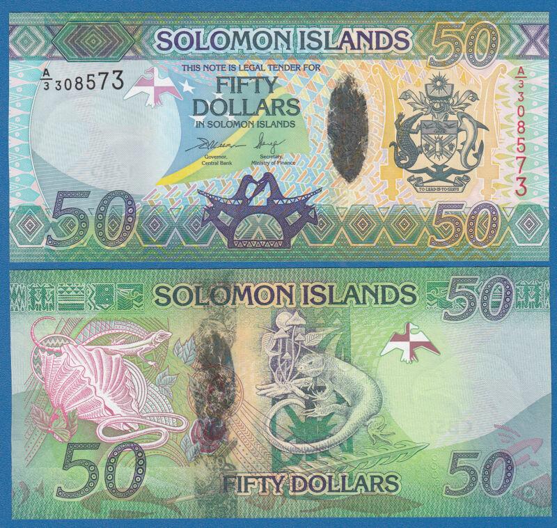 Solomon Islands 50 Dollars P 35 2013 UNC Low Shipping! Combine FREE!