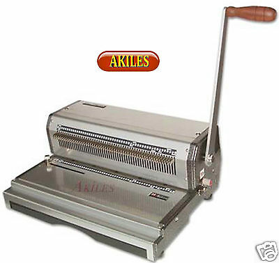Akiles Coilmac-m Coil Binding Machine Punch 41 Oval Holes 13-inch New