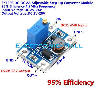 95 Efficiency 2a Dcdc 2v24v To 2v28v 10k Adjustable Step-up Voltage Converter