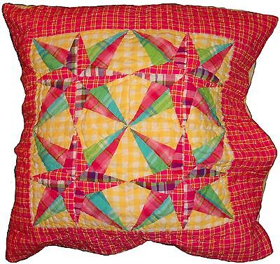 - Pine Cone Hill Quilted Bright patchwork euro Pillow sham 100% cotton